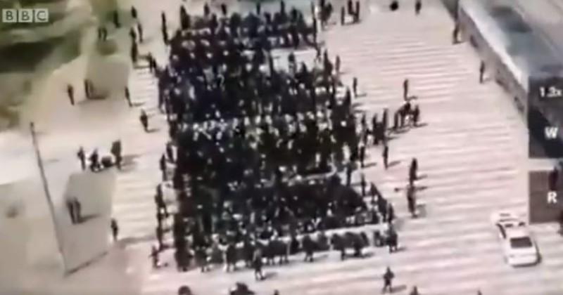 Chinese Ambassador Struggles To Explain Shocking Footage Of Handcuffed & Blindfolded Uighurs Loaded Onto Train
