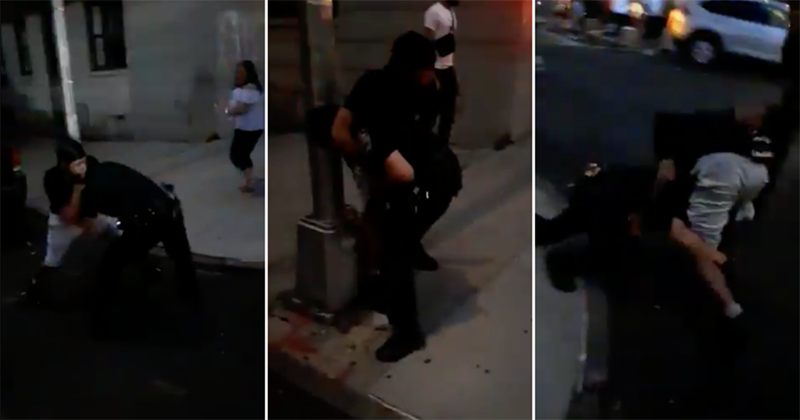 NYC mayor calls for unity after viral VIDEO shows man putting Bronx cop in headlock – as crowd cheers