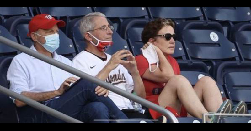 Internet Mocks Fauci For Watching MLB Game Without Mask After Terrible First Pitch