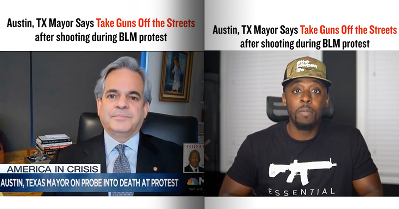 "Austin, Texas Mayor Calls For Taking ""Guns Off The Street"""