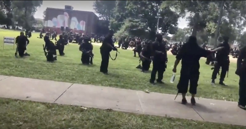 Video: Black Militia Member Accidentally Shoots Comrades During BLM Protest