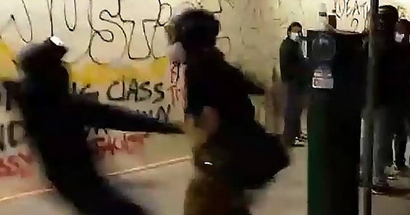 VIDEO: Black Conservative Stabbed by Antifa During Portland Black Lives Matter Riots
