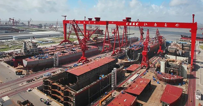 Photos: China Begins Final Assembly of Next Two Advanced Aircraft Carriers