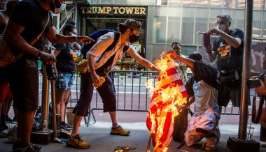 Showdown at Trump Tower: MAGA supporters clash with protesters