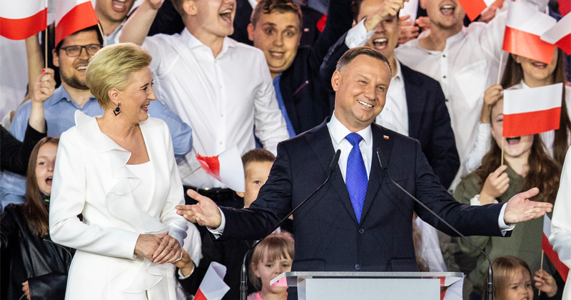 Polish President Wins Reelection by Slim Majority
