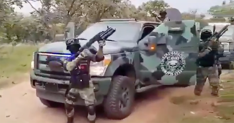 Mexican Government on Damage Control After Cartel Reveals Armored Paramilitary Unit