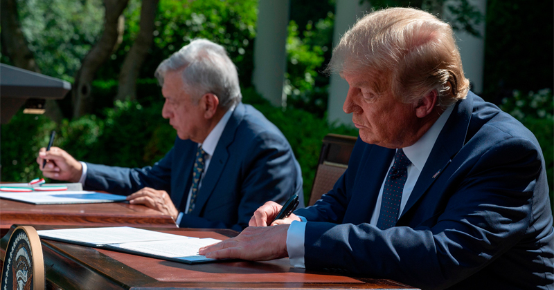 Trump, Mexican President Sign Joint Declaration on USMCA Trade Deal
