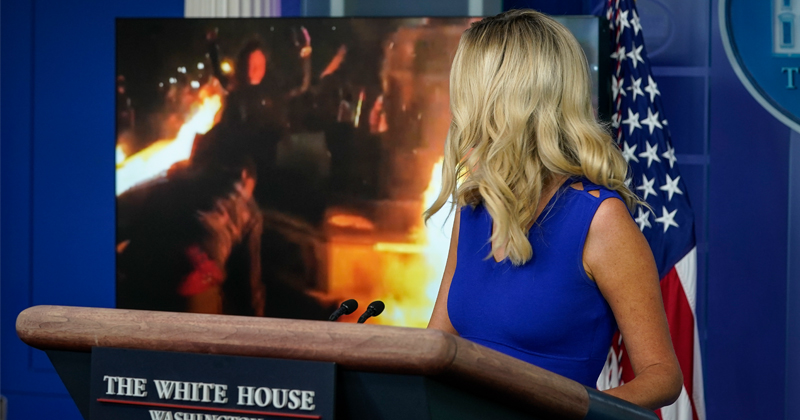Fox Cuts Away From White House Briefing After McEnany Shows Footage of Portland Riots