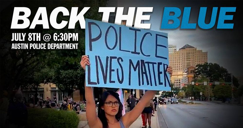 Stand Up For Police At The 'Back The Blue Rally' In Austin, Texas