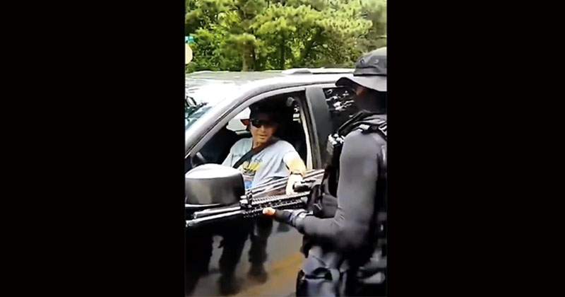 Video: Black Armed Militia Holds Up White Drivers For Reparations