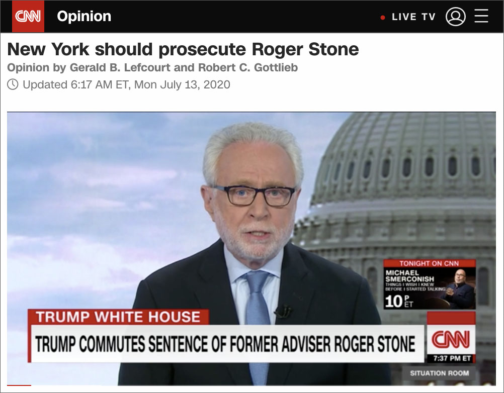 Attorney Demanding Another Prosecution of Roger Stone Had Argued For Pedophile Jeffrey Epstein To Be Exonerated