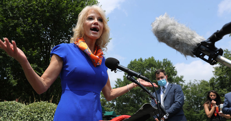 Watch: Kellyanne Conway Attacks Biden's Record of Creepy Statements, Actions