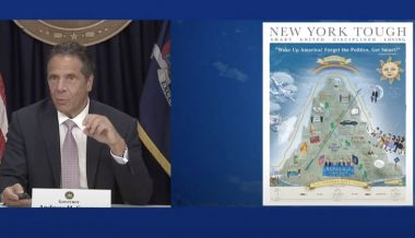 Gov. Cuomo Unveils Bizarre 'Pandemic Poster' Touting New York's COVID-19 Response
