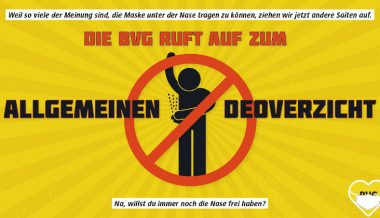 Berlin Transit Authority Urges Commuters to Forgo Deodorant So Riders Use Masks