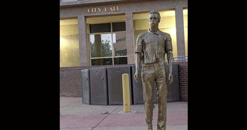 Bronze Jeffrey Epstein Statue Found In Albuquerque