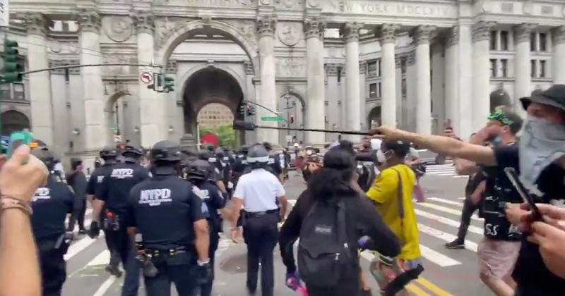 "New CHAZ? NYPD Surrenders City Hall to ""Defund Police"" Mob"