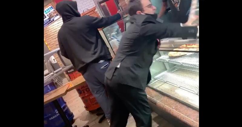 Watch: Mask Nazi Wrecks Pizza Joint after Seeing Fellow Customer Not Wearing Mask
