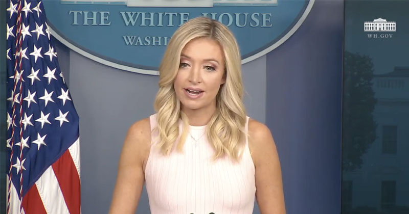 Watch: Press Sec McEnany Says Trump Administration Stands With Police, Condemns BLM Violence