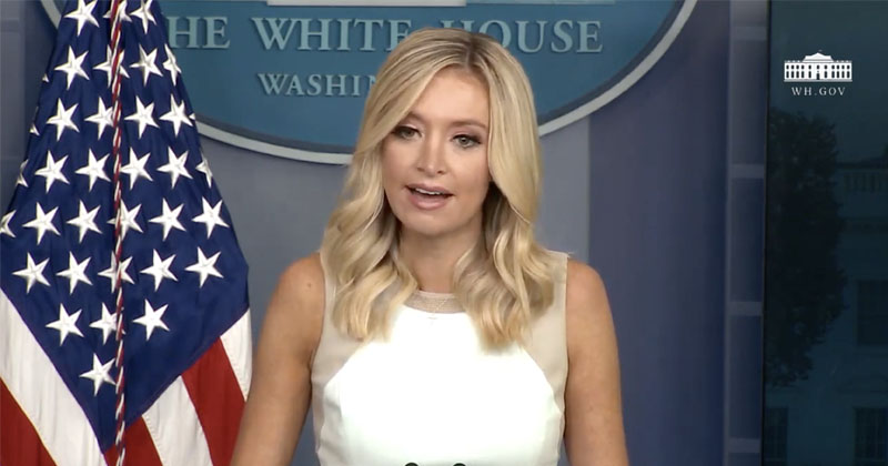 Watch: Press Sec McEnany Gives Briefing On Record Economic Gains Despite Continued Dem Shutdowns