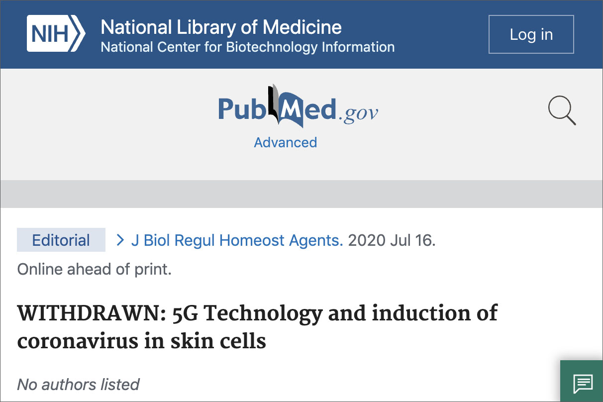 Cover-Up: NIH Removes 5G-Coronavirus Study From Website Following Infowars Exposé