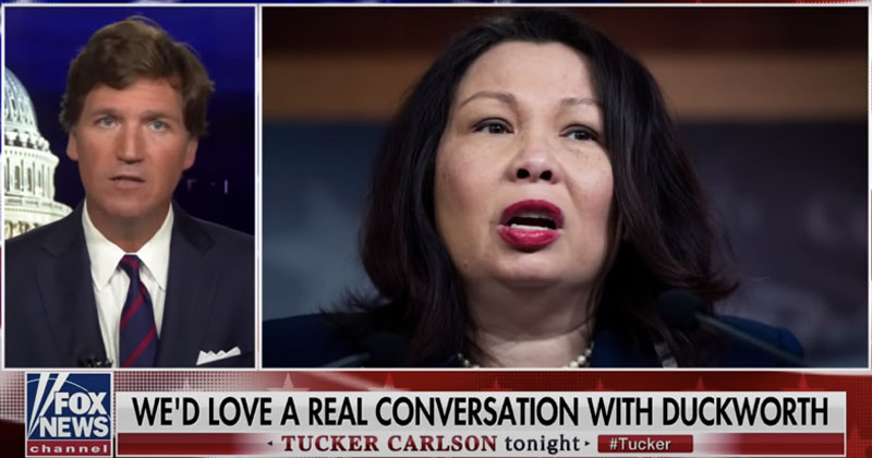 Tucker Carlson: 'Coward' & 'Fraud' Tammy Duckworth Not In Position To Lecture About Patriotism