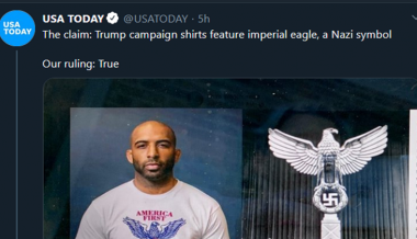 USA Today Slammed For Repeating Idiotic Claim That Trump Campaign T-Shirt Has 'Nazi Symbol'