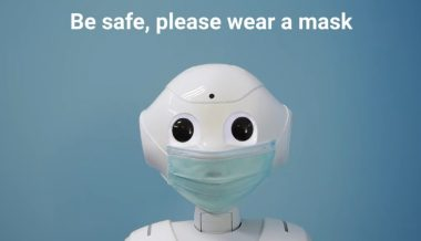 Robot Uses Face Scanning AI to Ask People to Wear a Mask