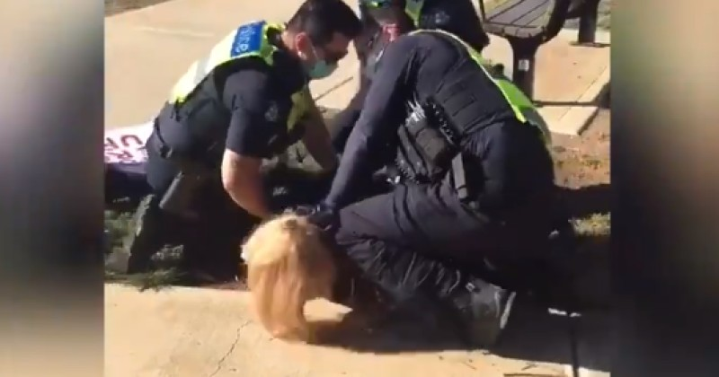 Video: Woman Left With Severe Bruising After Being Arrested by Police For Being Outside During Lockdown