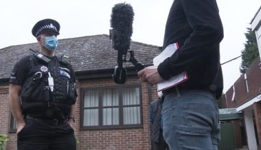 Police stop media interview with asylum seeker amid controversy of migrants living in UK hotels