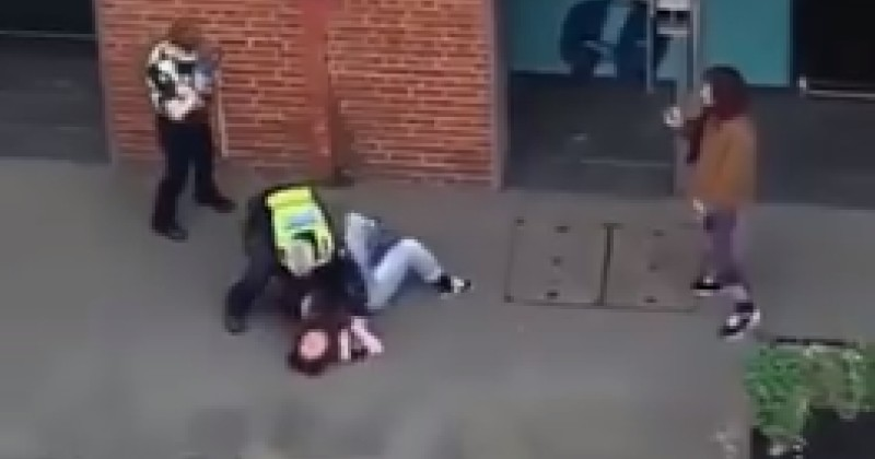 Video Shows Police Putting Chokehold on Woman For Violating Lockdown