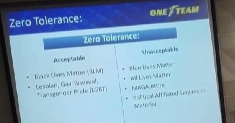 "Goodyear Diversity Training: ""Zero Tolerance"" For MAGA, but Black Lives Matter & LGBT is Encouraged"