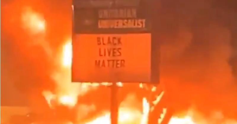 Church That Celebrated 'Black Lives Matter' Burns in Kenosha