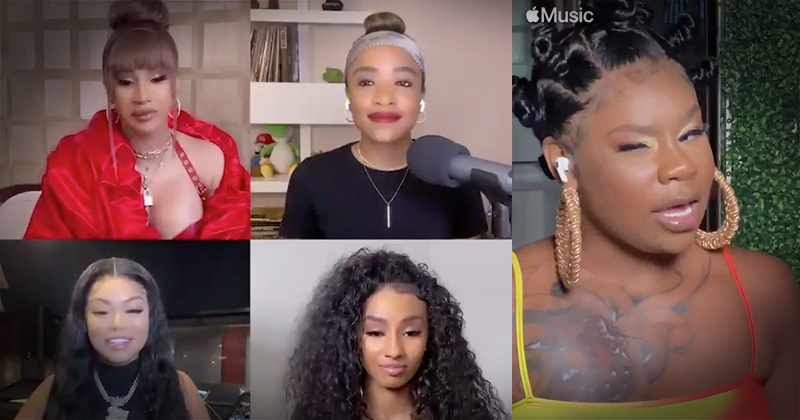 """Apple Music Cardi B Interview Promotes """"Pussy Poppin Bitches"""""""