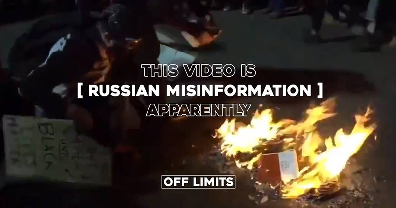 Video Of BLM Burning Bibles Is 'Russian Misinformation,' Apparently