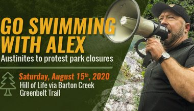 Go Swimming with Alex Jones!