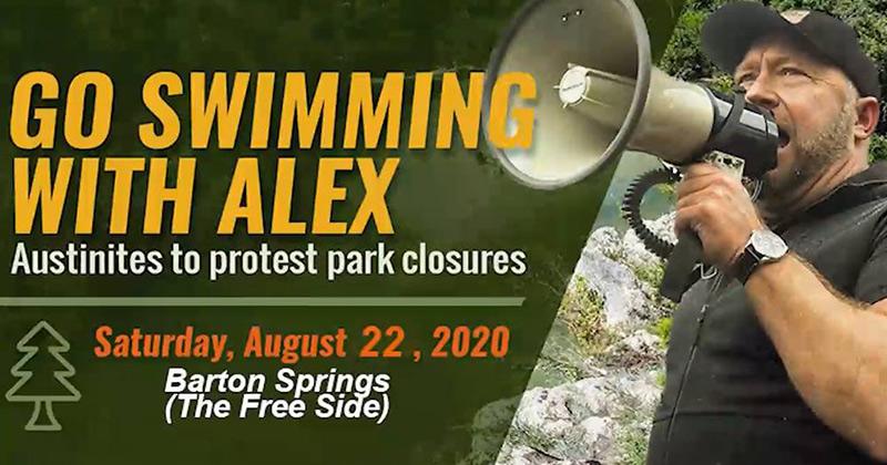 Swimming With Alex Jones 2.0 Barton Springs Edition