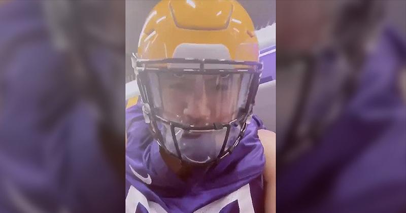 'I Can't f**king BREATHE Under This Thing': LSU Linebacker Identifies Flaw in New Anti-Coronavirus Helmets (VIDEO)