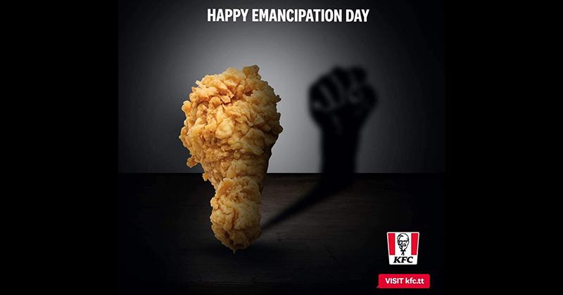 KFC Tobago Uses 'Racist' Advert with Fried Chicken Symbolizing Black 'Emancipation'