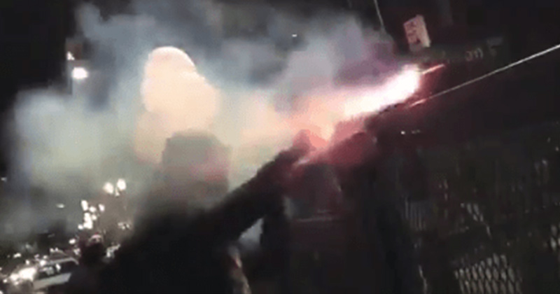 VIDEO: Portland Rioter Burns Hand While Trying to Launch Explosive at Federal Courthouse