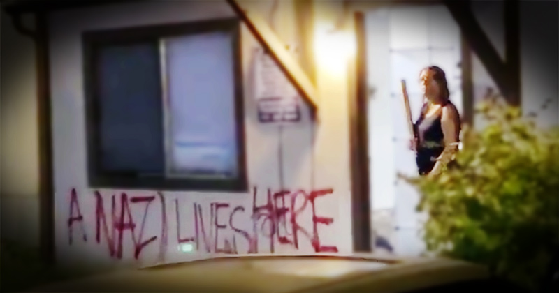 "Neighbors Defend Portland ""Nazi Lady"" From Antifa"