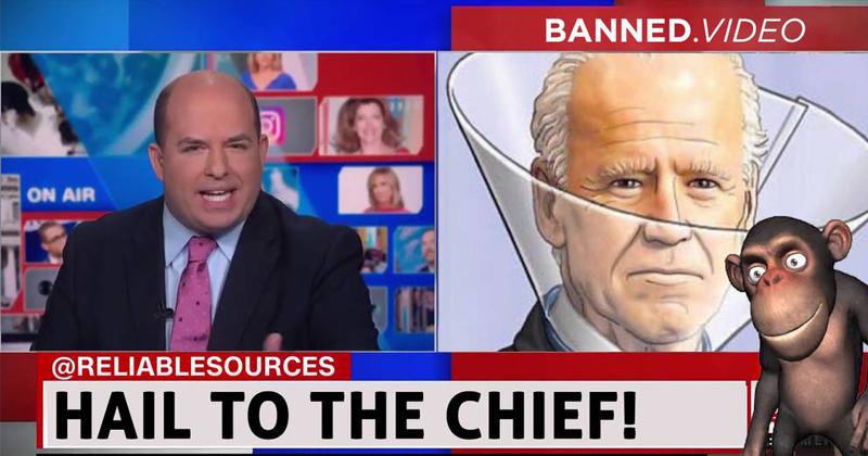 Joe Biden, Brian Stelter, And a Monkey!