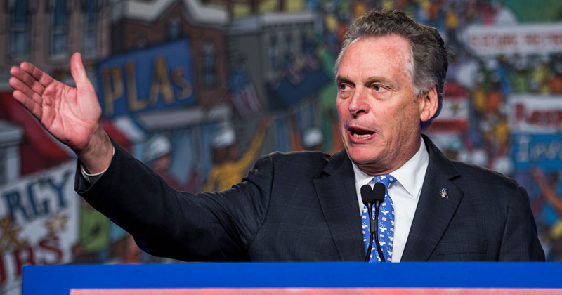 Former Virginia Governor Terry McAuliffe Files Paperwork for 2021 Re-Run