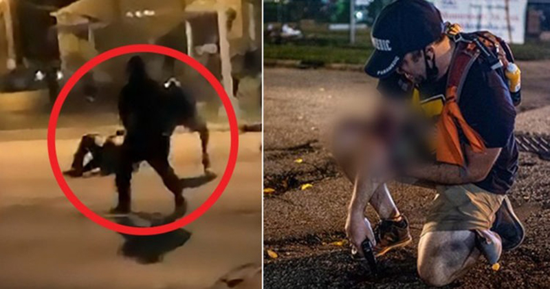 BOMBSHELL PHOTO: Man Shot By Boogaloo Militia Member Carried Pistol Even After Being Shot