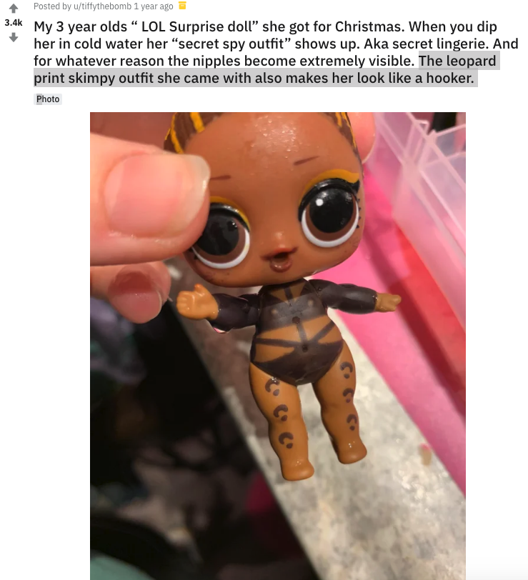 Hidden Lingerie Tattoos Appear On Children S Dolls Dipped In Ice Water