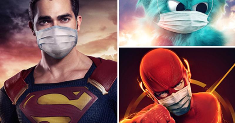 TV Network Pushes Superhero Face Mask Propaganda