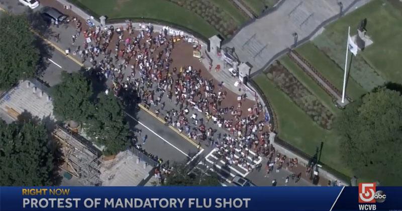 Hundreds Of Parents Protest Mandatory Flu Shot Order By State Health Officials