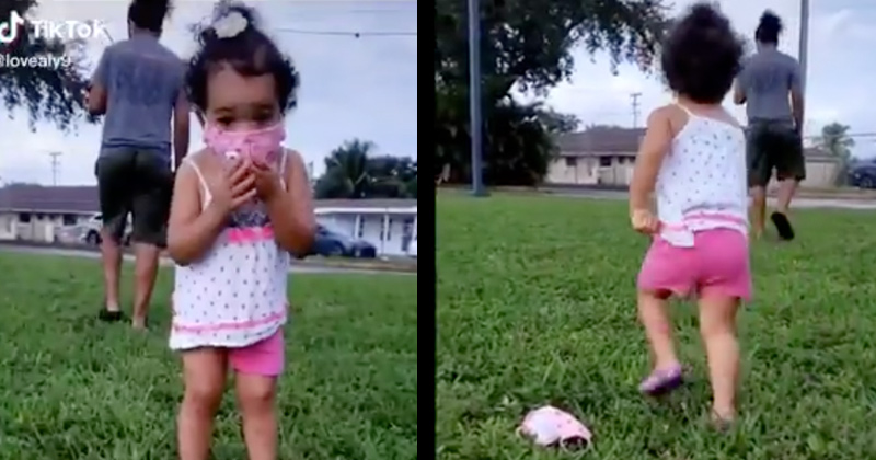 Inspiring Video: Little Girl Angrily Removes Face Mask -- Tosses It In Disgust!!