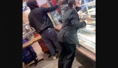 Video: Man Has Meltdown, Destroys Glass Display after Confronting Maskless Pizza Shop Customer