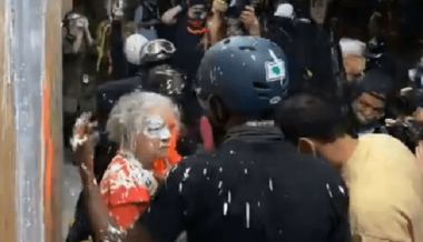 VIDEO: Elderly Woman Assaulted, Doused in Paint Then Confronted by Portland Rioters