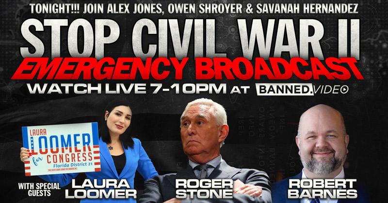 "Watch: ""Stop Civil War 2"" Emergency Broadcast"